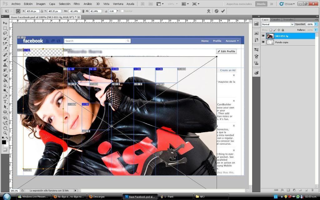 Tutorial cambio de perfil facebook con photoshop 2