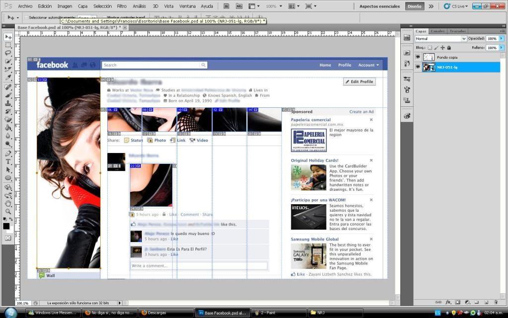 Tutorial cambio de perfil facebook con photoshop 3