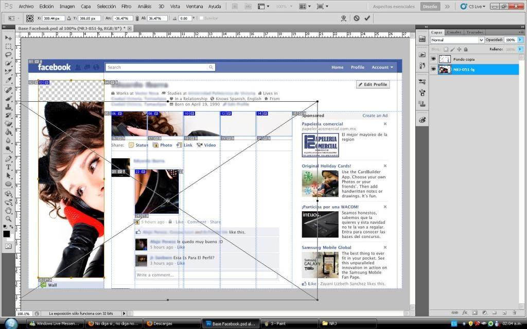 Tutorial cambio de perfil facebook con photoshop 4
