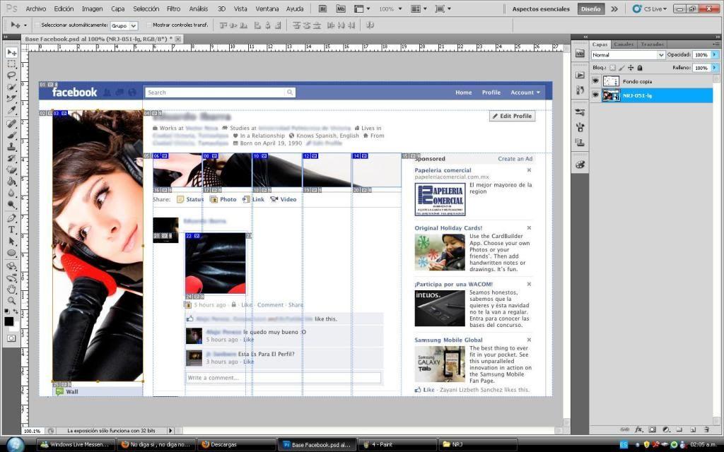 Tutorial cambio de perfil facebook con photoshop 5