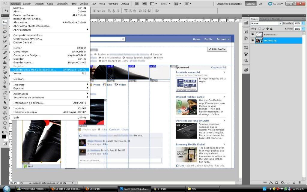 Tutorial cambio de perfil facebook con photoshop 6