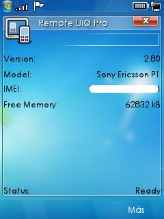 Remote UIQ Professional, Controla el celular desde la PC 0001