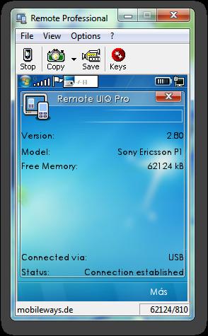Remote UIQ Professional, Controla el celular desde la PC Sshot-1-12