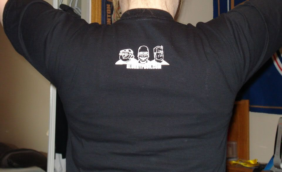 Blurrypron's first tshirt design has arrived! DSC00496