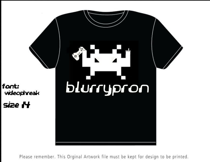 Blurrypron's first tshirt design has arrived! Tshirt