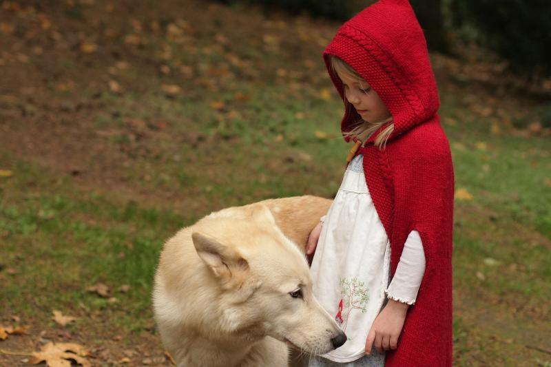 """My girls as Little Red Riding Hood, each with a """"wolf!"""" Handmade costume handed down. 10661766604_5b0126f710_o"""