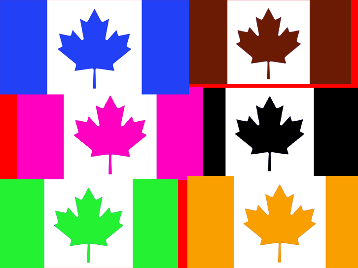 Photoshop Pictures.  Canadianflags