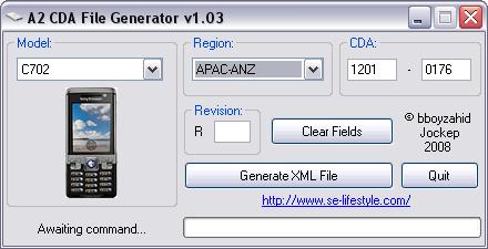 A2 CDA  FILE  GENERATOR  V 1.03/V 1.04 Cda1