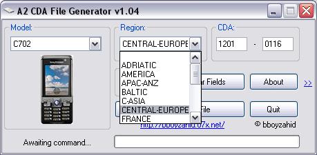 A2 CDA  FILE  GENERATOR  V 1.03/V 1.04 Cda2