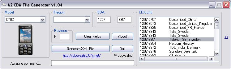 A2 CDA  FILE  GENERATOR  V 1.03/V 1.04 Cda3