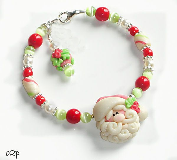 Provocare 6 polymer clay - Christmas Jewelry Christmas-pearly-santa-bracelet-our2peasinapod