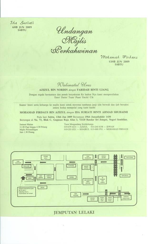 Perutusan Raja Sehari ( ida computer + daus welding ) Jemputanlelaki