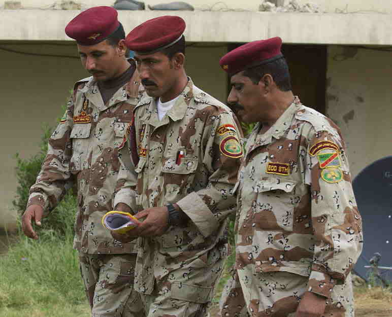 Post Hussein Iraq army insignia Iraqi_EODsmall