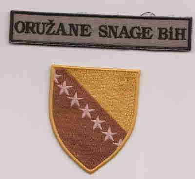 Insignias from Bosnia and Herzegovina (all three sides) Bosnia-1