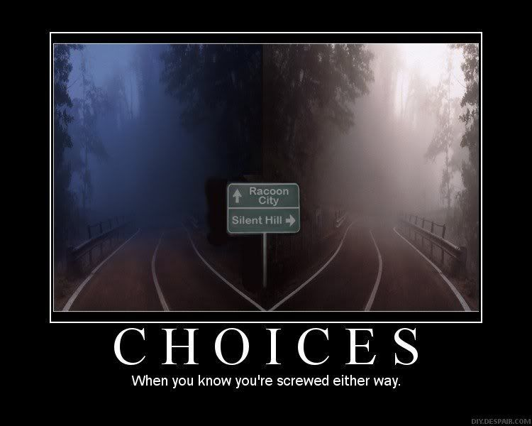 Silent Hill or Resident Evil? Choices14