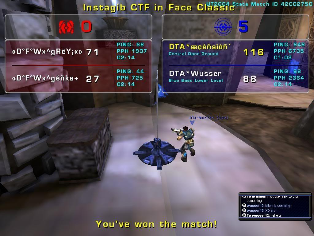 DTA* vs «D°F°W»  CLAN MATCH 01/01/09 Dfw2v2a