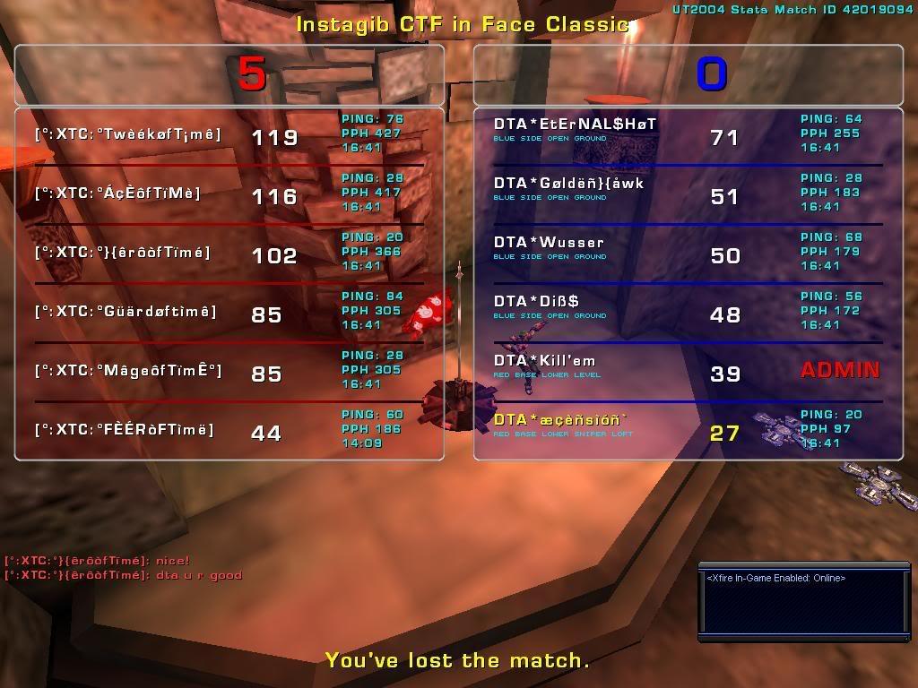 DTA* vs. °:XTC:° CLAN MATCH 01/02/09 Xtc-1