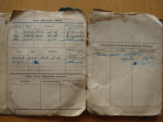 RAF PAY BOOK POUR DES BELGES DSC02947