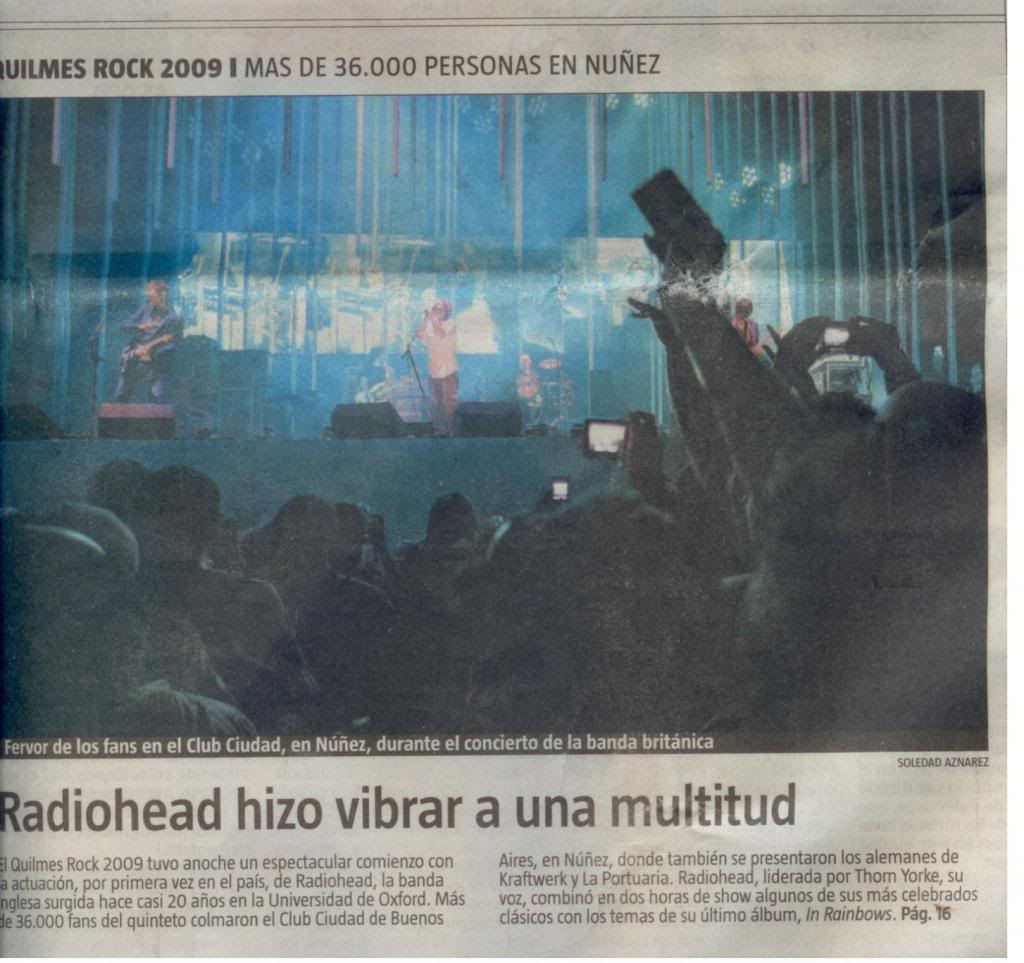 Jornal e Revista argentinos. Radiohead002