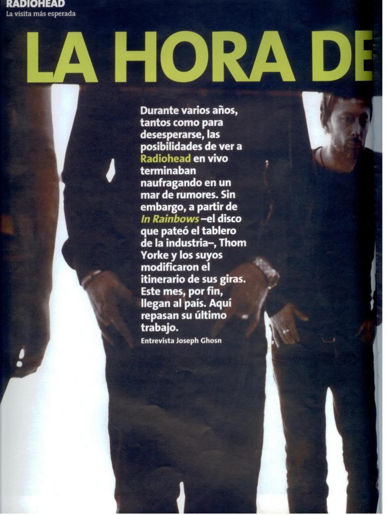 Jornal e Revista argentinos. Radiohead003