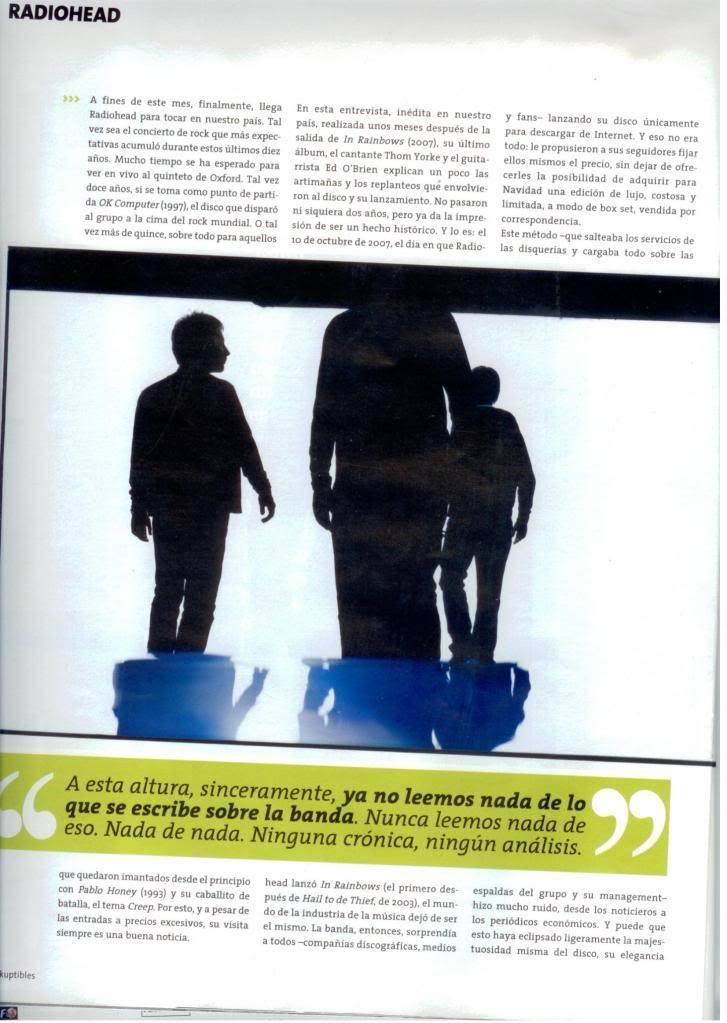 Jornal e Revista argentinos. Radiohead005