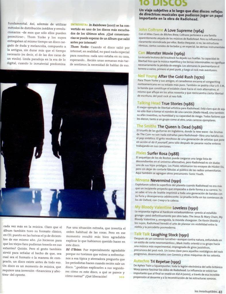 Jornal e Revista argentinos. Radiohead006
