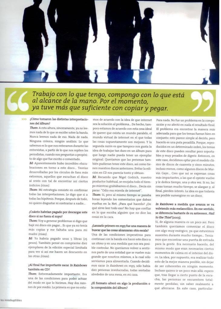 Jornal e Revista argentinos. Radiohead007