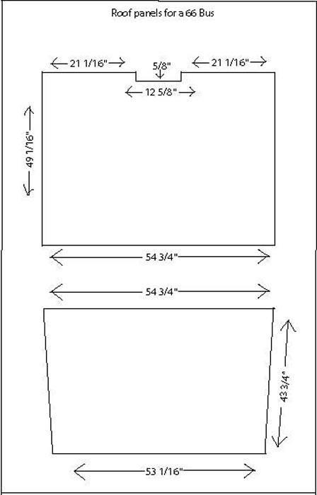 Roof panel measurements for hardtop Split Bus Roofpanels3_zps648046de