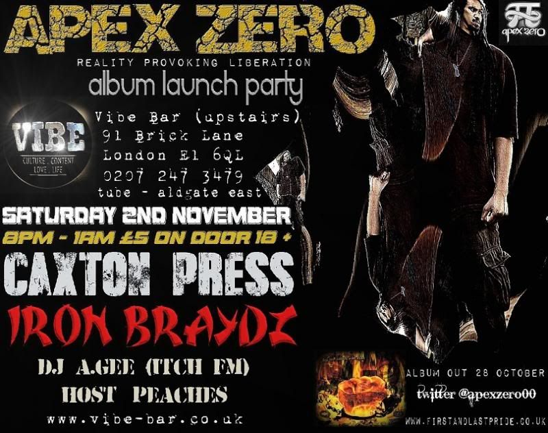 Hip Hop Event in London Saturday 2nd November FlyerWeb_zpse471002c