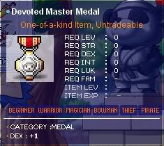 Maple All Medal Guide DevotedMasterMedal