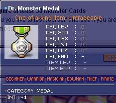 Maple All Medal Guide DrMonsterMedal