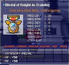 Maple All Medal Guide MedalofKnight-In-Training