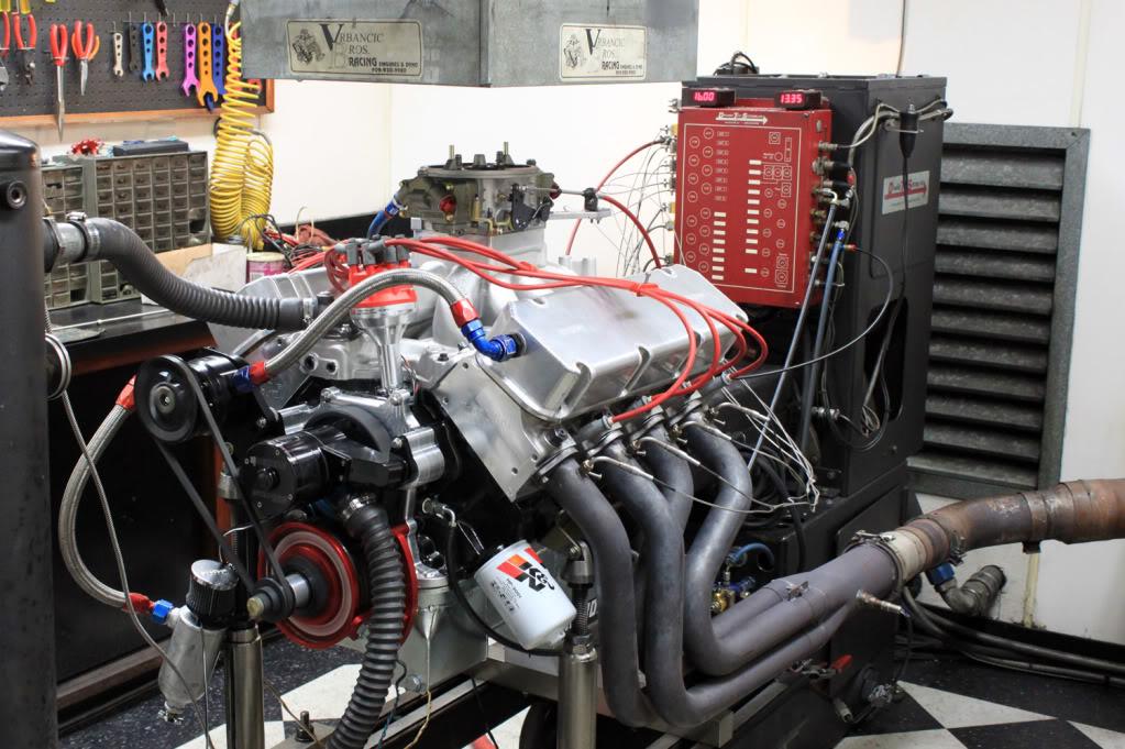 572 CID - Stock Kaase P51 heads  EngineDyno10web