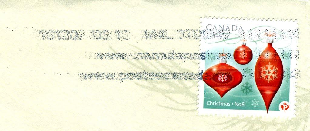 Postbelege - verhunzt und zerstört Canada2010Xmasstampcancel001