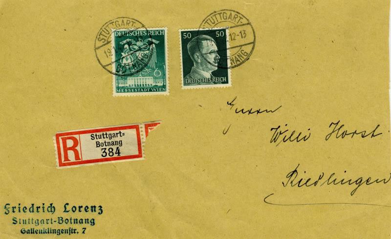 Reizvolle Briefe des Deutschen Reichs DRMichel769Registered