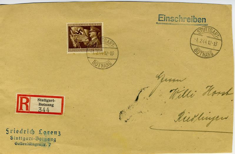 Reizvolle Briefe des Deutschen Reichs GDRMichel865Registered