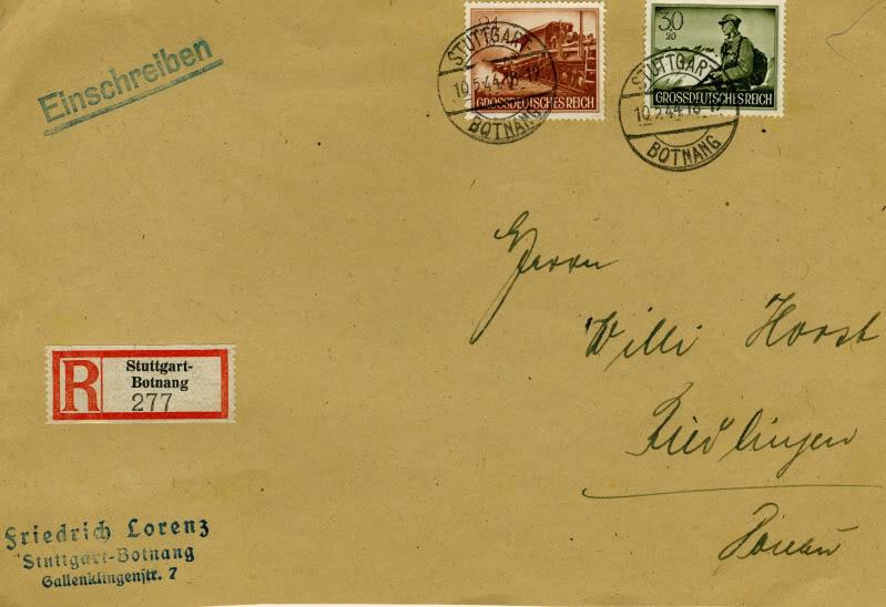 Reizvolle Briefe des Deutschen Reichs GDRMichel883885Registered