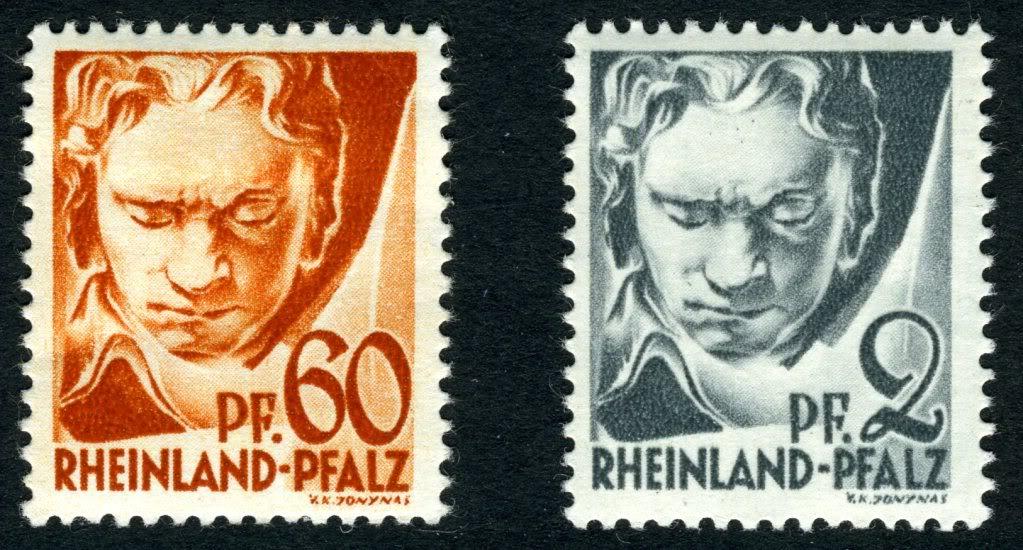 Ludwig van Beethoven GermanyFrenchZoneRheinlandMi12and1