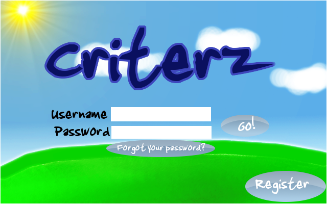 Uh.. a room and some sort of login screen to match.. Criterzlogin