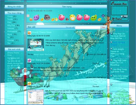 Làm tuyết, mưa rơi trên nền Blog 2