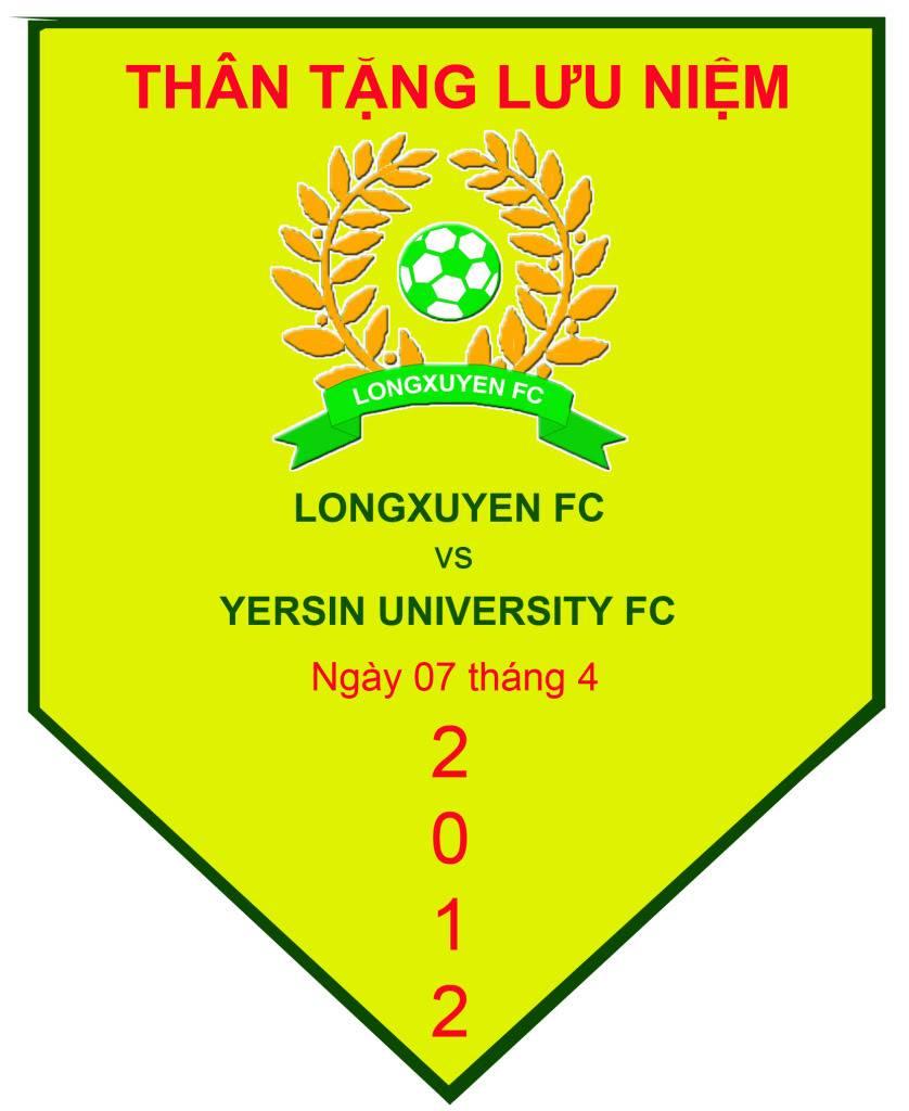 CỜ LƯU NIỆM LXFC - YERSIN UNI FC CLUNIM