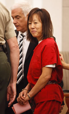 Sun Cha Warhola charged w/ 2 counts of aggravated murder in connection with the strangulation deaths of her children, James, 8, and Jean Marie, 7/Her next hearing concerning the murder charges is set for 1/14.She has been deemed UNFIT to stand trial! D0V3_ND_09202010_sun_cha_war_3D0