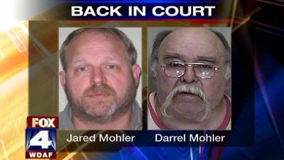 Burrell Mohler & other Mohler men plead not guilty to sex crimes against children/All sexual molestation charges have been dropped against these men: Jared Mohler, David A. Mohler, Burrell Mohler Sr., Burrell Mohler Jr., Roland Mohler, and Darrel Mohler. 51429382-04102047-400225