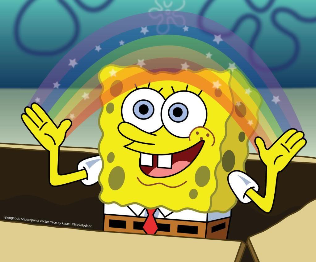 Insert Coin Spongebob-rainbow
