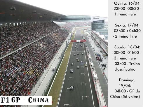 Novidades da F1 Shanghai