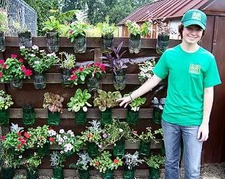 self water soda bottle planters Fallgarden9-1-10josh