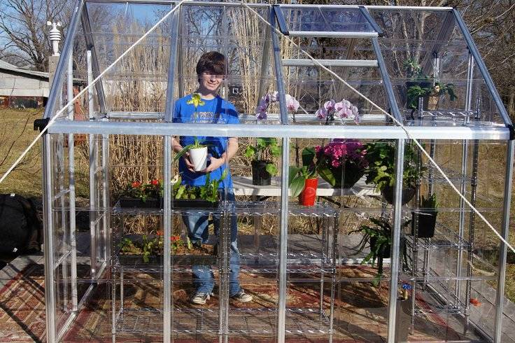 New for 2012...a small greenhouse Greenhousealmostdone