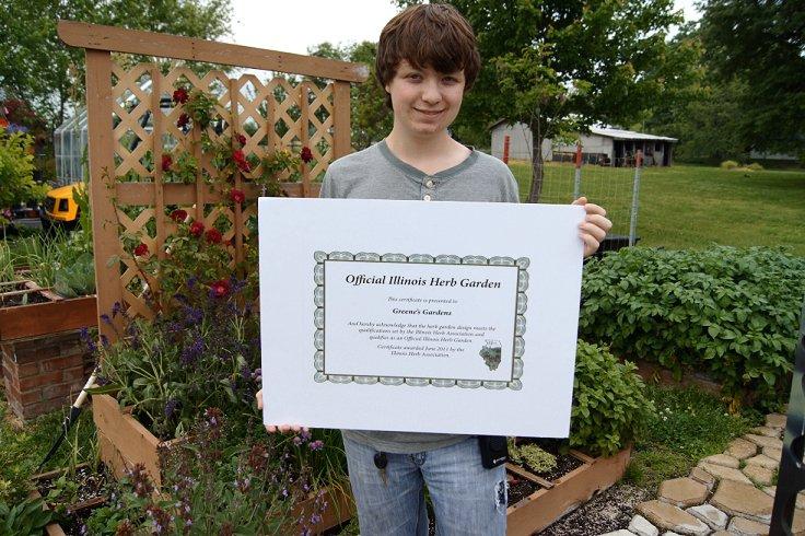 Certified Illinois Herb Garden Herbgardensign