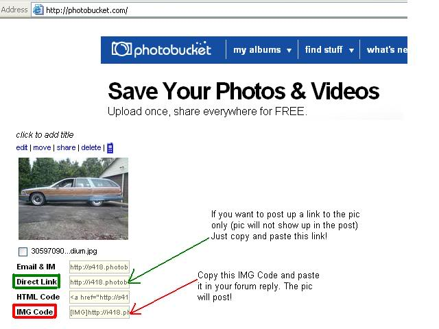 READ THIS FIRST!!! How to post pics (Now with pics) Photobucket