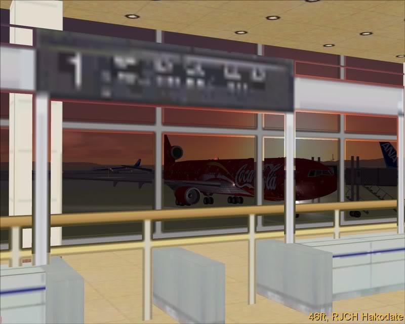 FS9 - UMA LATA de COCA-COLA com 3 Motores ou MD-11,Hakodate - Obihiro by Tour Japão -2008-dec-31-030